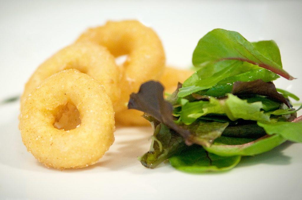anilla a la romana cocinada cookde battered ring