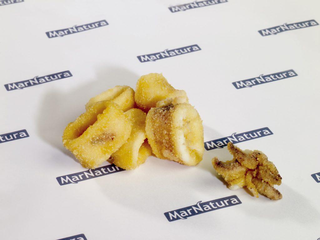 chipiron enharinado congelado frozen baby squid coated on flour
