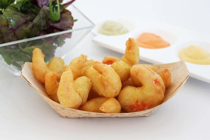 gamba rebozada cocinada cooked battered shrimp