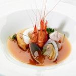 preparado sopa de marisco cocinado cooked frozen seafood soup