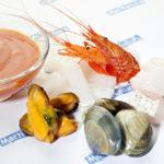 preparado sopa de marisco congelado frozen seafood soup